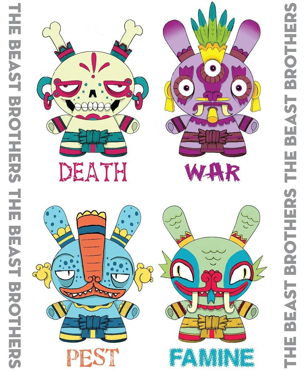 the four horsemen of the dunny apocalypse by the beast brothers
