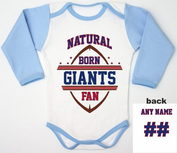 f1fd6371824 Giants Baby Bodysuit / Personalized Baby Gift / Football Baby Clothes /  Giants Newborn Fan / NY Football Jersey / Coming Home Outfit / Gift