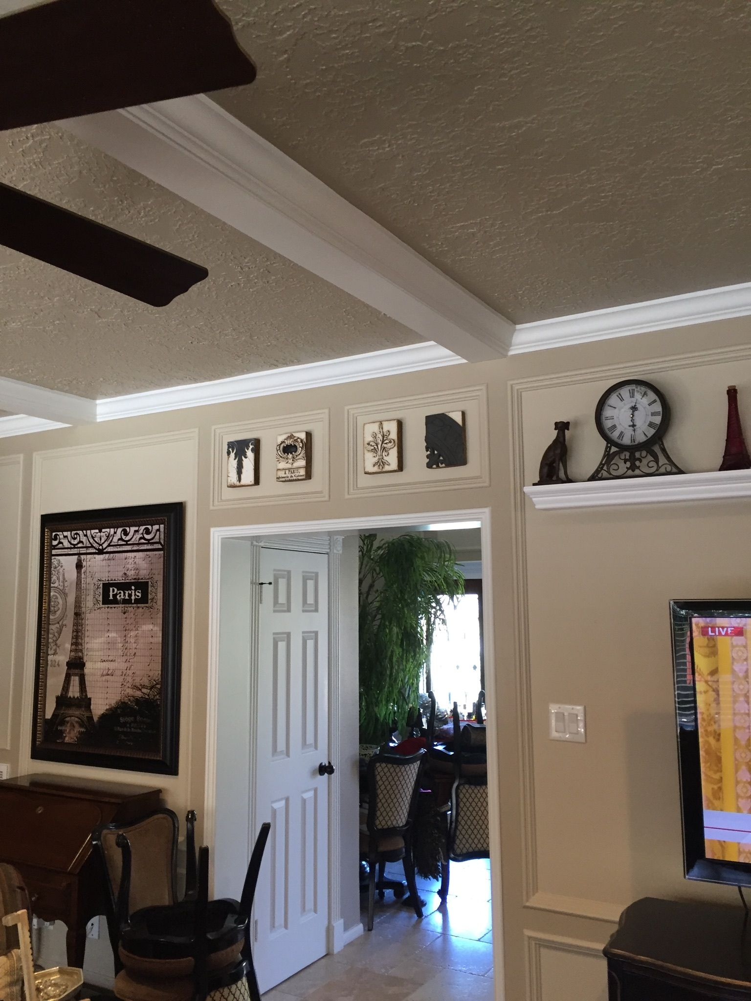 Family Room With Painted Paneling Sherwin Williams Malabar And Antler Velvet Paint Colors