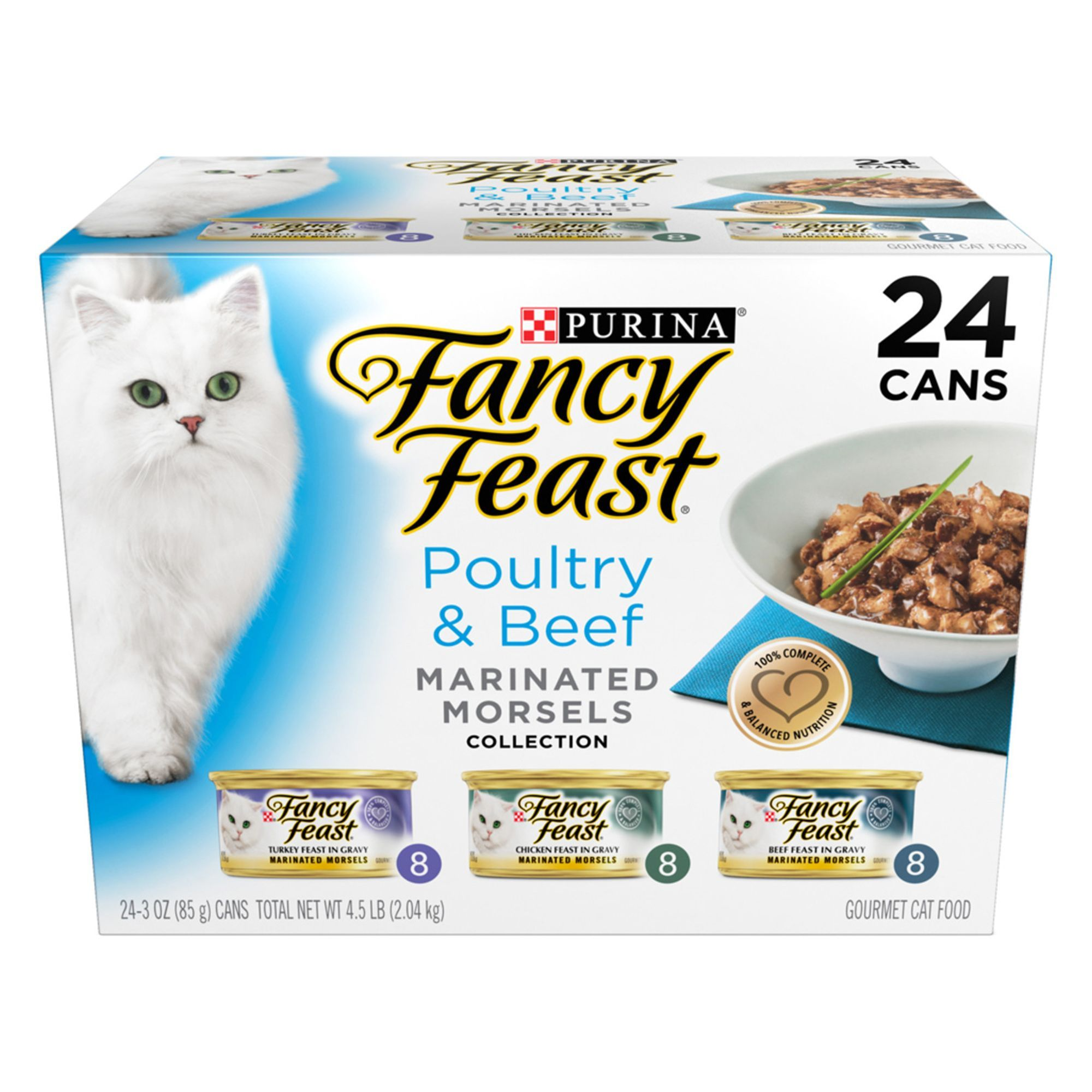 Fancy Feast Marinated Morsels Poultry Beef Variety Pack For Cats Cat Food Reviews Cat Food Coupons Canned Cat Food