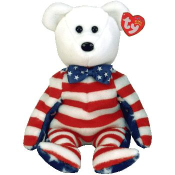 e244d04e56f TY Beanie Babies Liberty the Bear (White Head Version)  6.95 ...