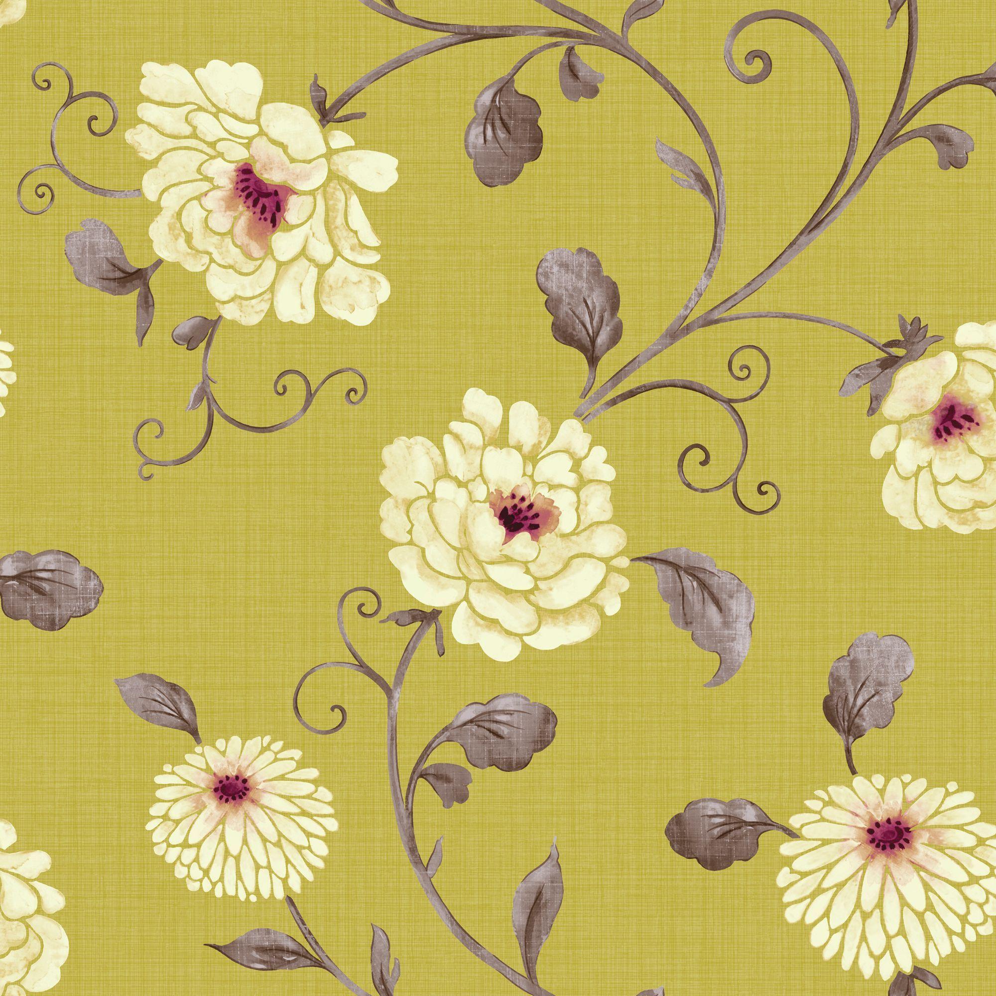 Home diy wallpaper illustration arthouse imagine fern plum motif vinyl - Arthouse Vintage Antoinette Pistachio Wallpaper Departments Diy At B Q