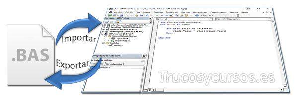 Exportar O Importar Una Macro Vba En Excel Hojas De Cálculo Trucos De Excel Exportar