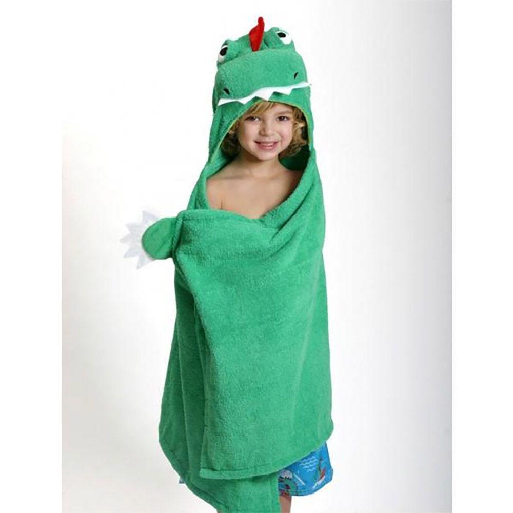 Toddler Plush Terry Hooded Bath Towel Dinosaur Hooded Bath