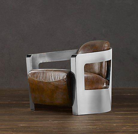Atlantic Coupe Leather Chair - Restoration Hardware My Interior