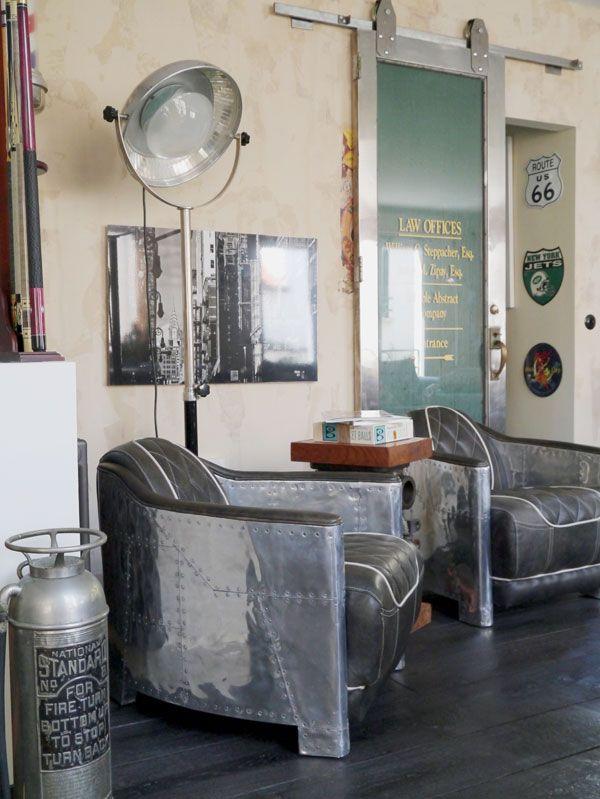 Fauteuils et esprit New Yorkais en loft Boulogne Billancourt ...