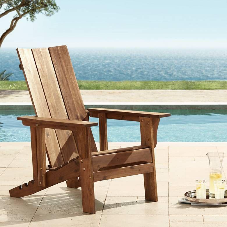 Modern adirondack adjustable back outdoor chair 33m38