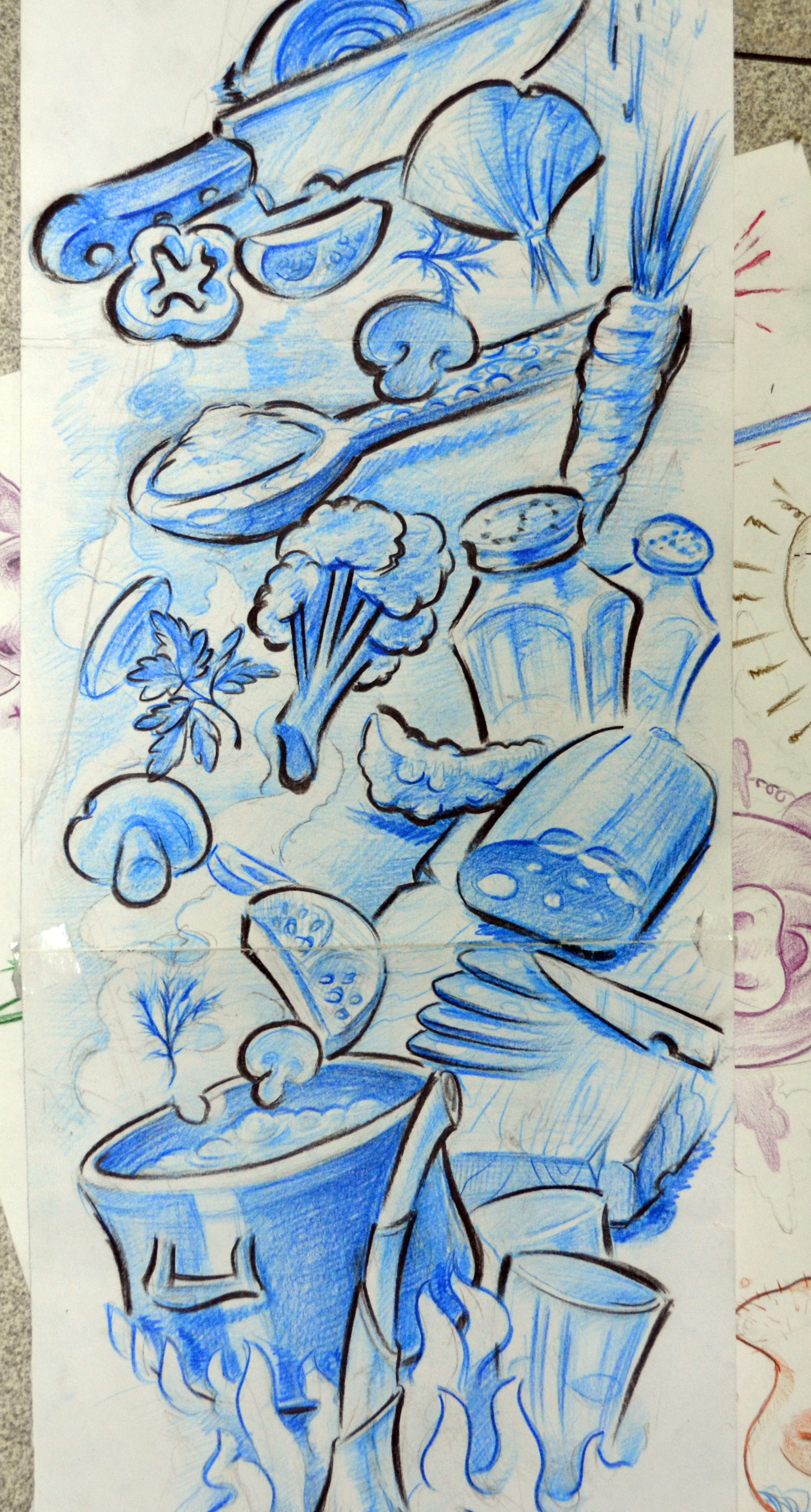 cooking tattoo design for a chef\'s sleeve | Inkspiration | Pinterest ...