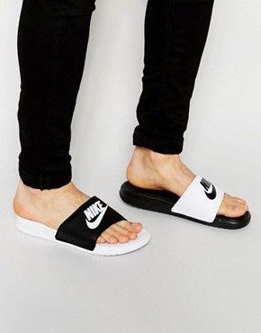 Nike – Benassi – Slider mit Logo in Rosa | ASOS