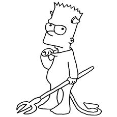 Top 10 Free Printable Simpsons Coloring Pages Online Simpsons Drawings Simpsons Art Bart Simpson Art