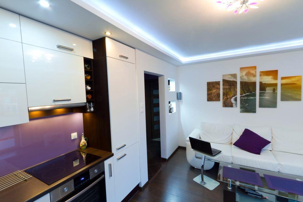 Pomysl Na Wnetrze Nowoczesny Maly Pokoj Z Kuchnia Interior Home Home Decor