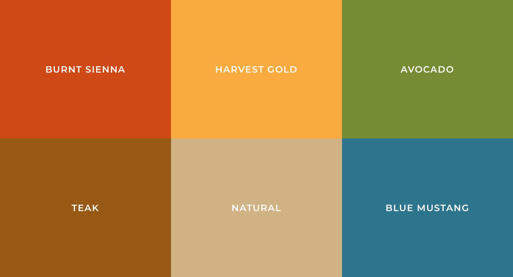 New 1960s Color Palette Vintage Colour Palette Earthy Color Palette Retro Color Palette