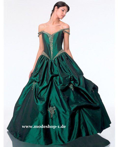 Quinceanera Mode Ballkleid Brautkleid Neubritannien Dunkel Grün www ...