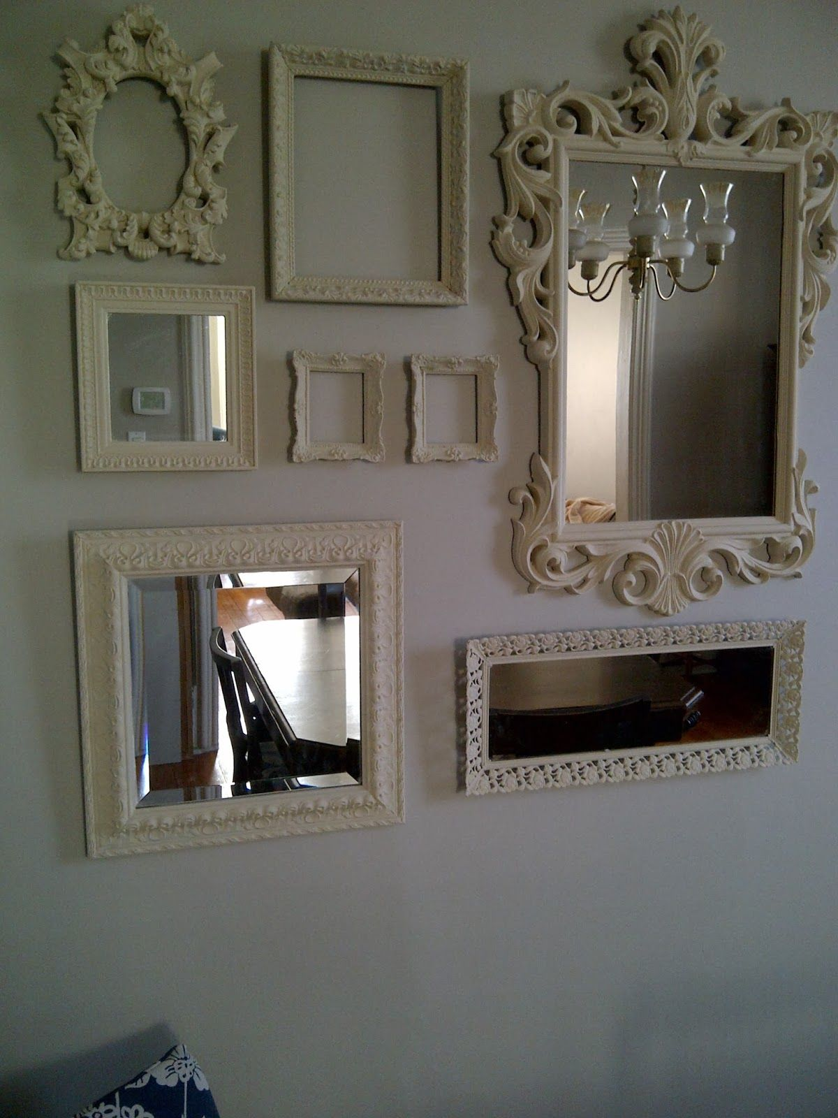 Dining Room Gallery Wall Mirrors And Picture Frames