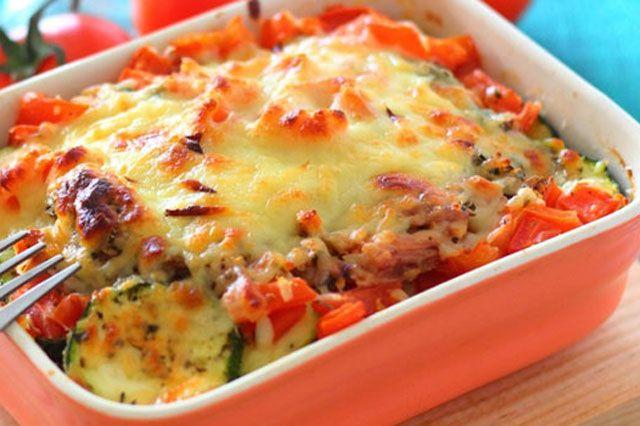 Gratin léger aux légumes et au Thon WW – Plat et Recette