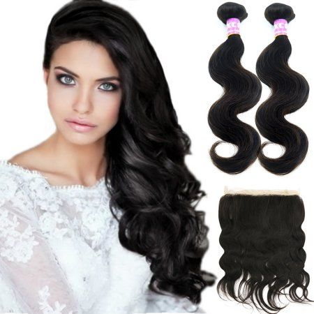 Human Hair Brazilian Human Hair Body Wave 12 24 2 Bundles 360 Lace Closure Full Lace Band 10a Sliky Hair Walmart Com Brazilian Human Hair Body Wave Hair Extensions Buy Human Hair