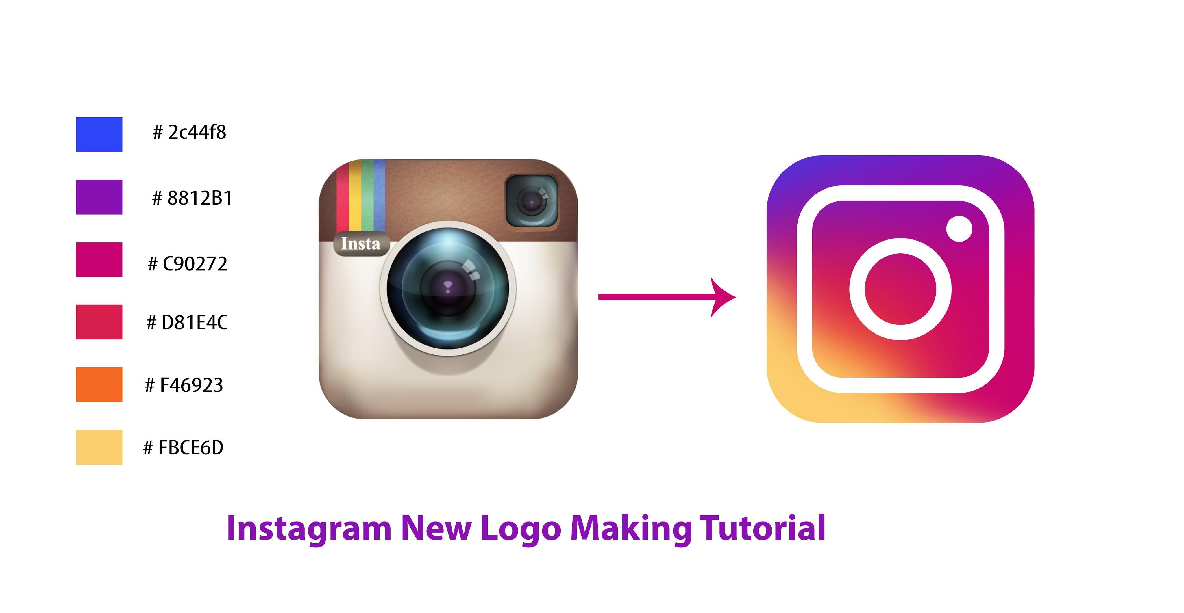 Instagram Logo redesign in Adobe Logo redesign