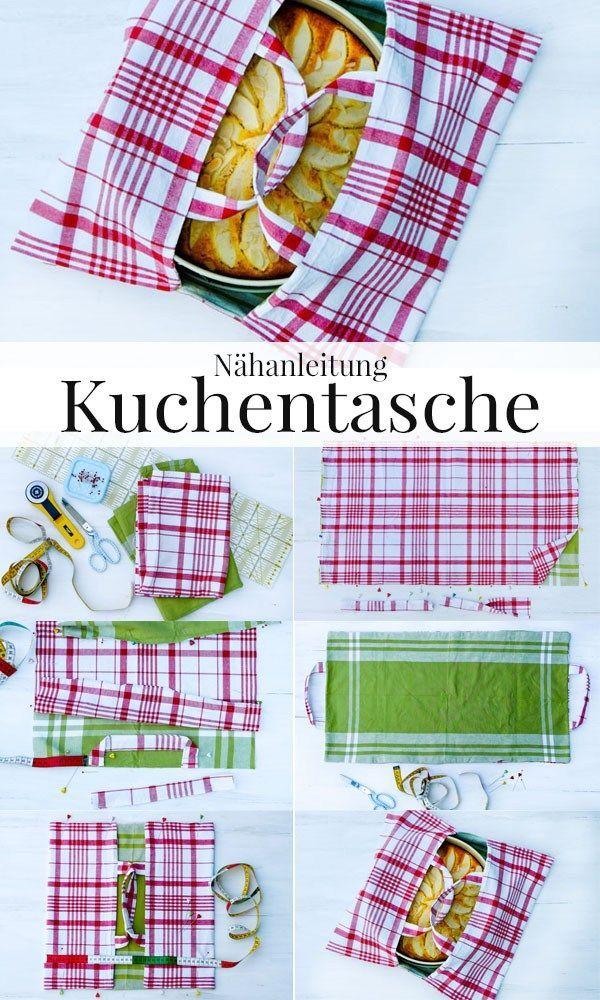 Photo of Nähanleitung Kuchentasche aus Geschirrtüchern + Rezept low carb Apfelkuchen