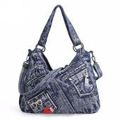 Photo of Casual Design Denim Jean Tote Bag With the Ideal Attitude Put on Display it is …