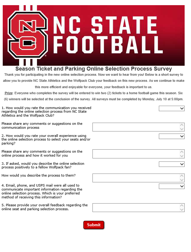 NC State Post Ballena Survey Nc state football, Nc