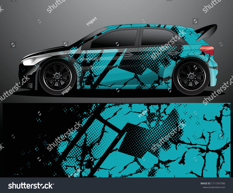 Rally Car Decal Grafik Wrap Vektorillustration Stock Vektorgrafik Lizenzfrei 1711597396 In 2020 Fahrzeugaufkleber Vektorgrafik Abstrakte Hintergrunde