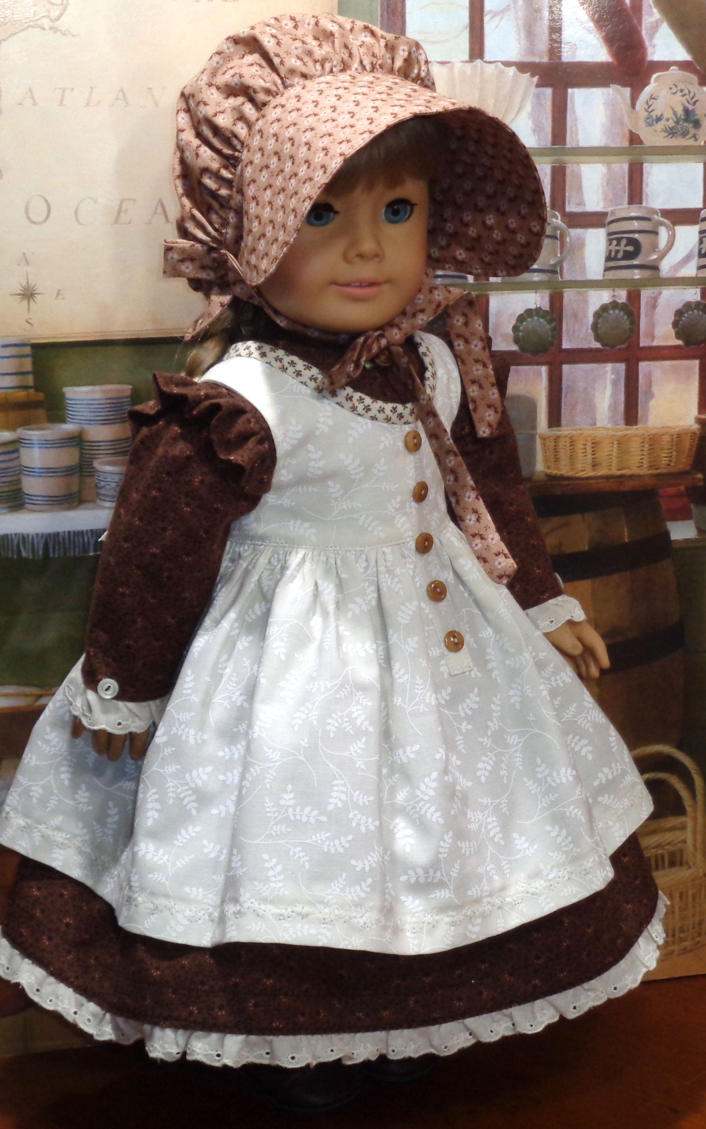Doll dress p #historicaldollclothes Doll dress p #dolldresspatterns