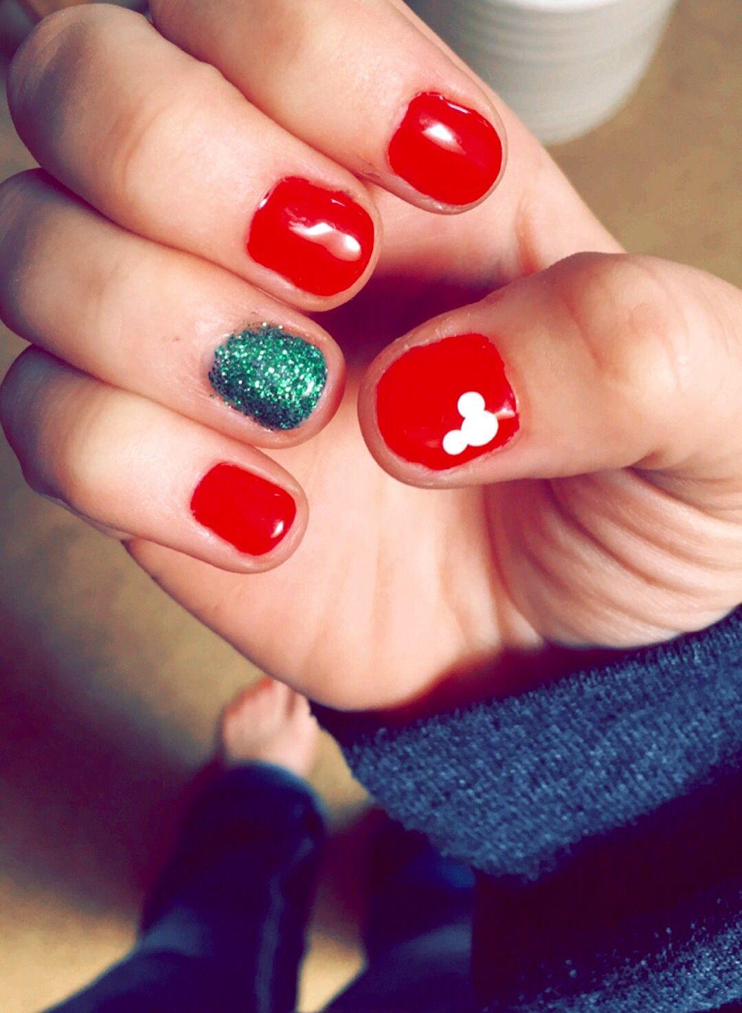 Christmas Disney Nails!!   Nails   Pinterest