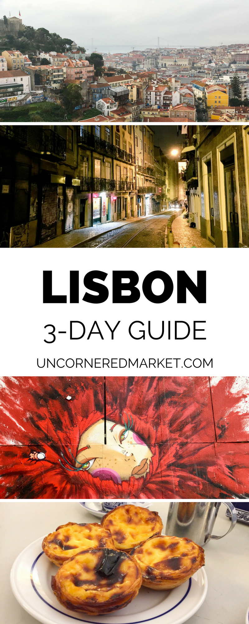 A 3-day travel guide to Lisbon with 22 things ideas to get you started in your itinerary. Recommendations on things to do, restaurants and dishes, tram routes, fado bars, favorite neighborhoods, street art, bakeries, and more. | Uncornered Market  #lisbon #traveltips #portugal #guide