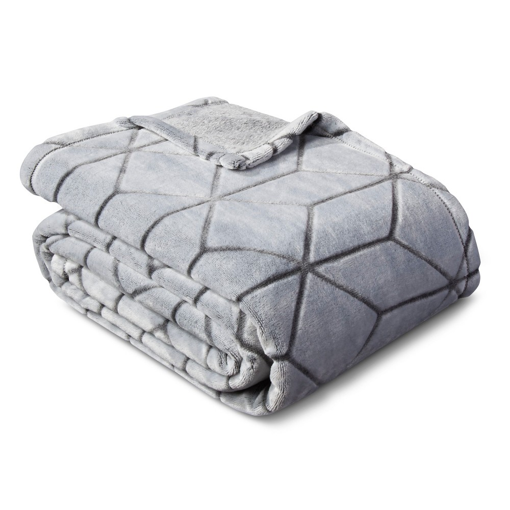 Micromink Plush Blanket (Full/Queen) Flat Gray Room