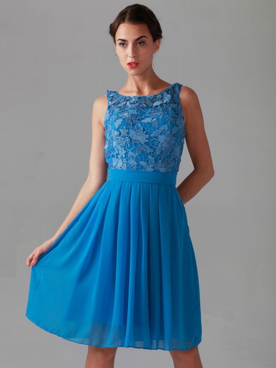 9527c536bda8f Lace Bodice Chiffon Dress | Harley's Wedding | Bridesmaid dresses ...