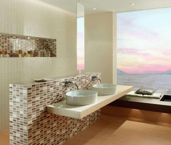 badezimmer badezimmer braun mosaik badezimmer braun mosaik or haus ... - Badezimmer Mosaik Modern