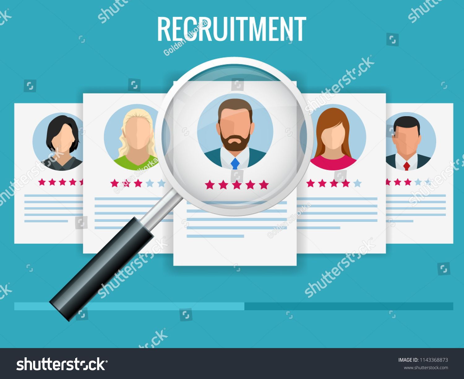 Hiring And Recruitment Concept For Web Page Banner Presentation Job Interview Recruitment Agency Illustrationweb Page Imagenes Lindas Imagenes Empresarial