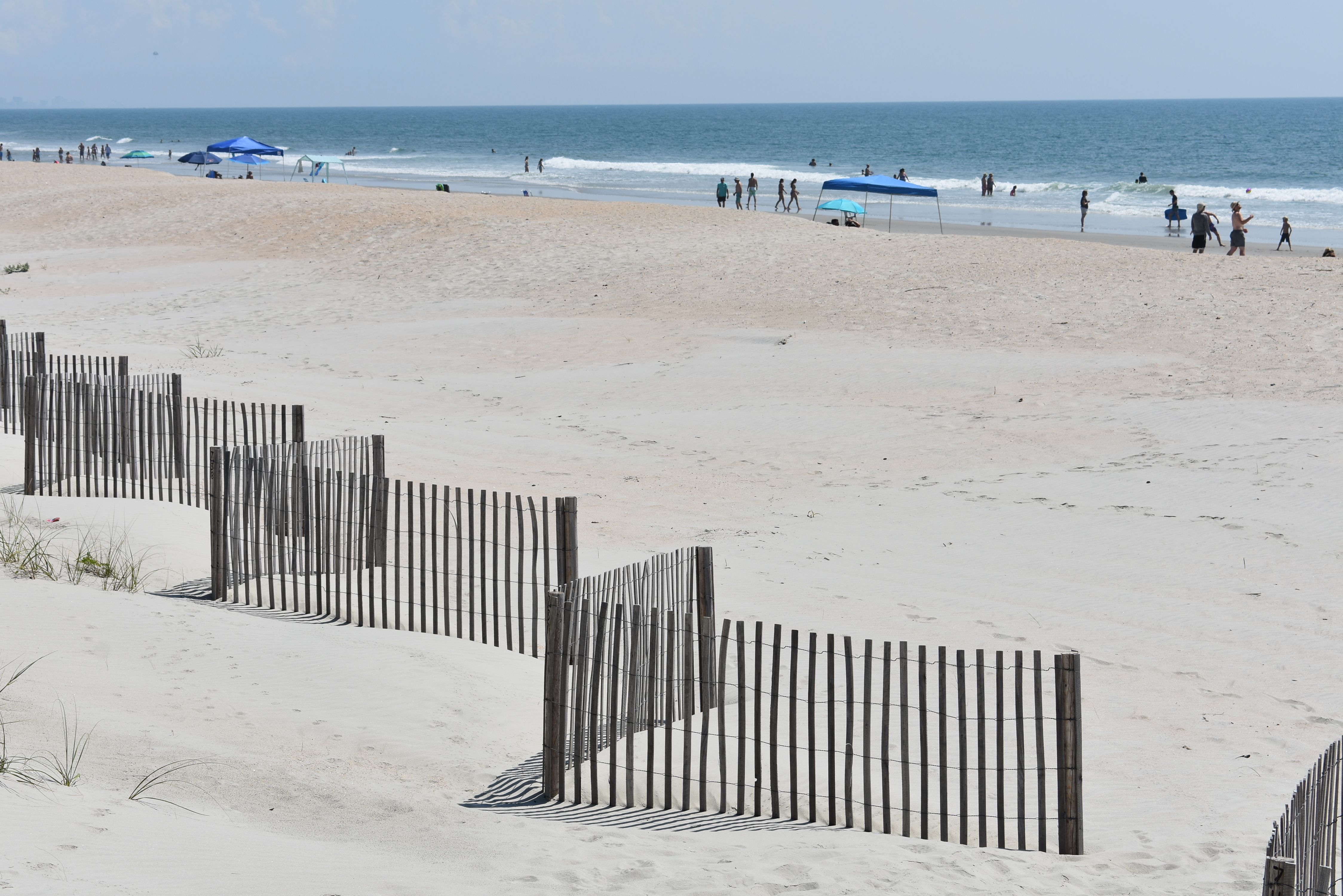 Sand Covered Dunes In Garden City Beach With Images Garden