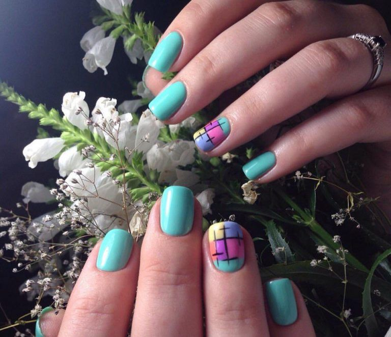 Blue nail art, Children nails ideas, Easy nails for girls, Kid nails with…