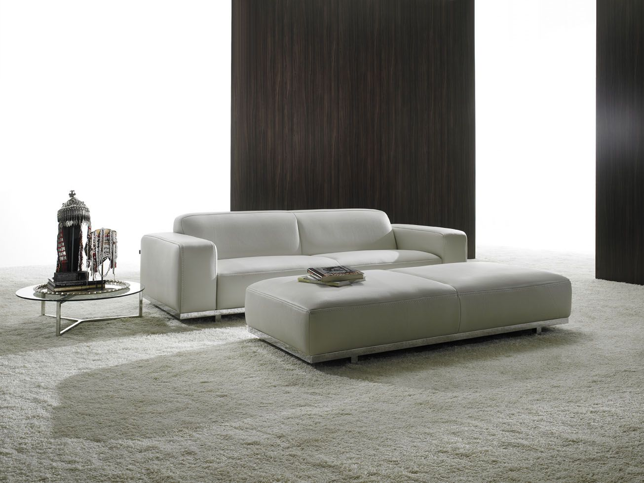 Modern Round Sofa Bed Cherry Table With 3 Drawers White For Minimalis