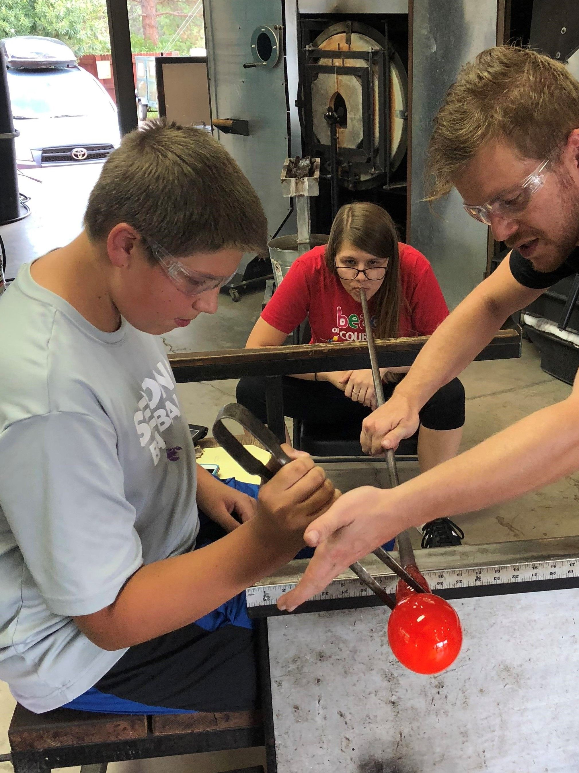 Available hot shop glass art work classes the melting
