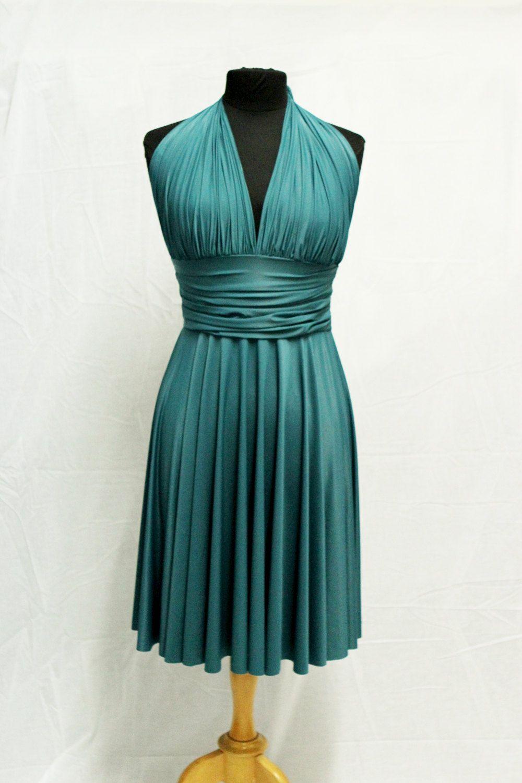 Convertible Emerald Green Dress ,Bridesmaid Infinity Dress, Prom ...