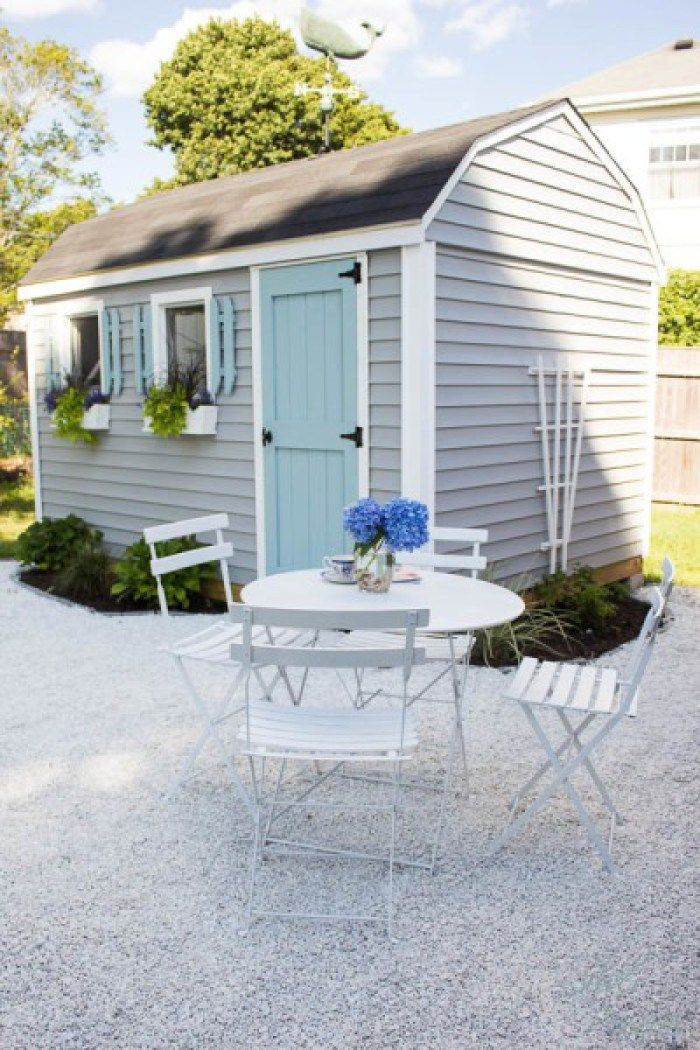A Big Part Of The Exterior Of My She Shed Was Adding A White Gravel Patio.  Today Iu0027m Sharing The Tutorial   DIY Gravel Patio Along With Our Plantings.