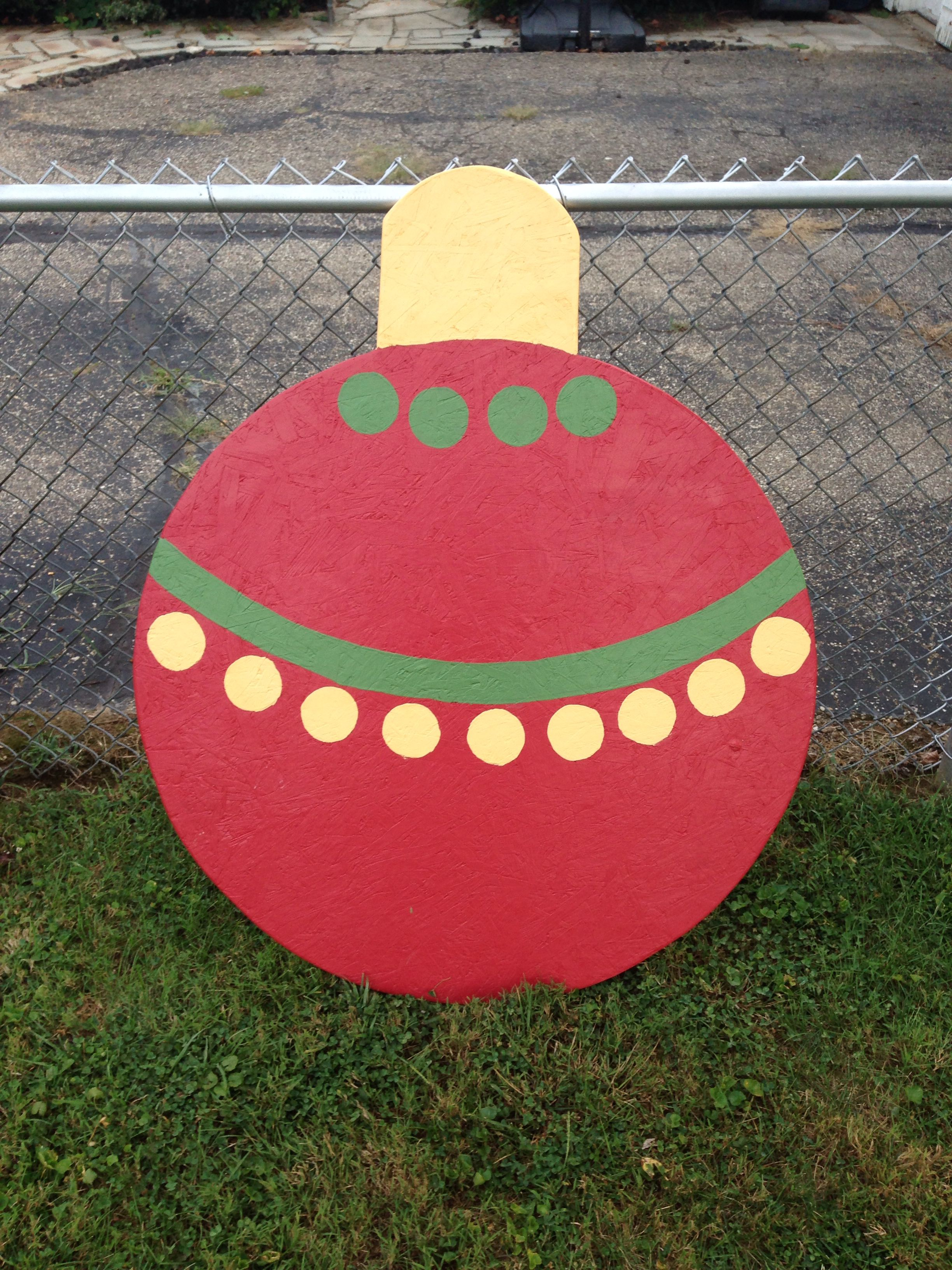 Large wooden lawn Christmas ornament | Wooden christmas ...