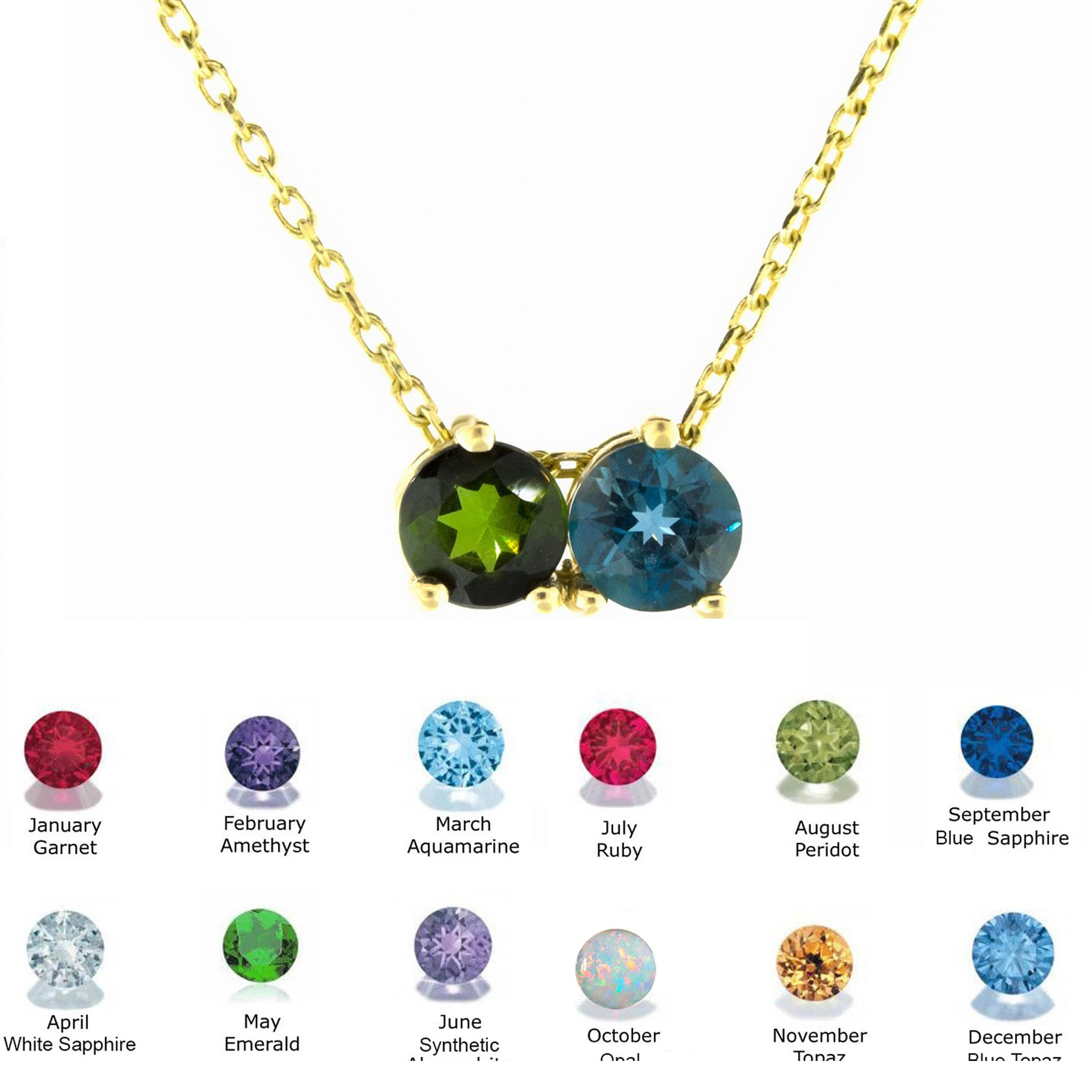 14k Gold Birthstone Necklace All Months Sarkisians Jewelry Gold Birthstone Necklace Birthstone Necklace Necklace
