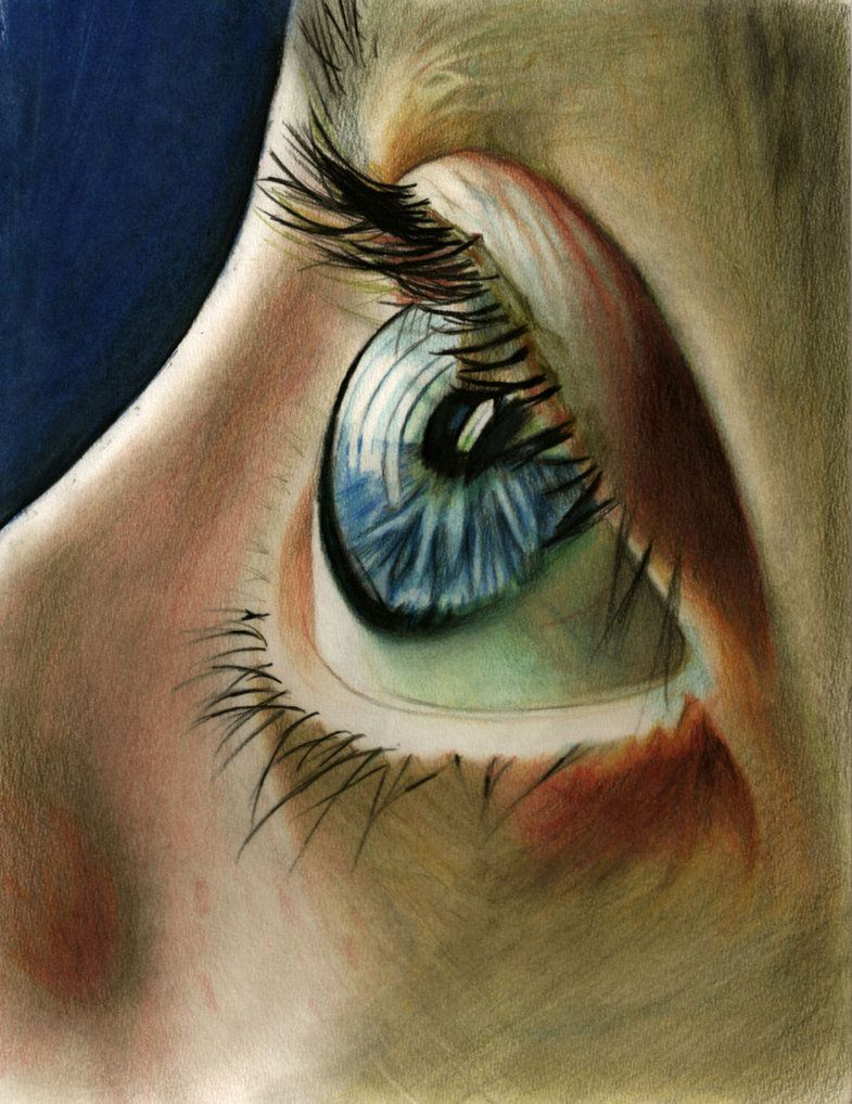 From a picture Tears of Hunger by .Colour pencils about 9hrs work