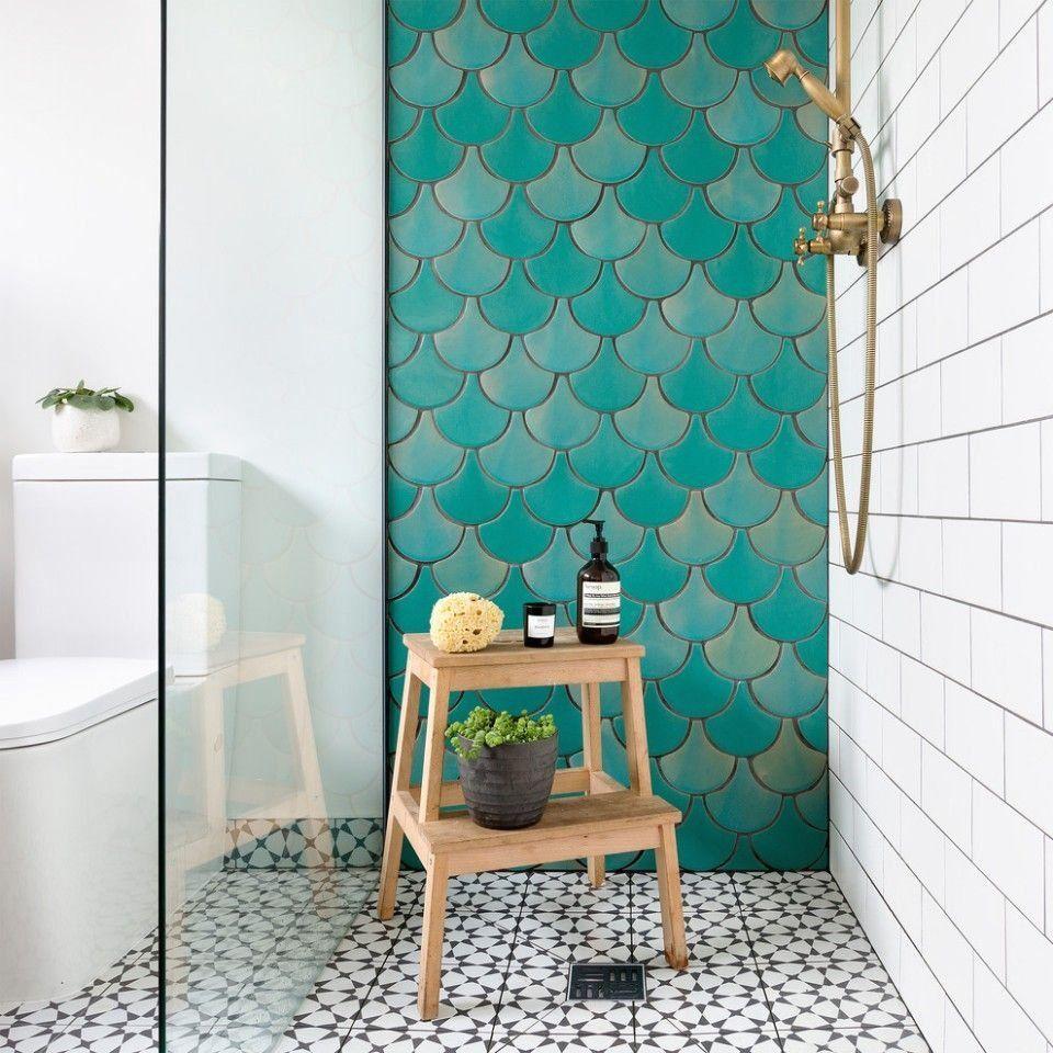 Bathroom Wall Tiles Fish 1000 In 2020 Fish Bathroom Fish Scale Tile Bathroom Turquoise Bathroom Tiles