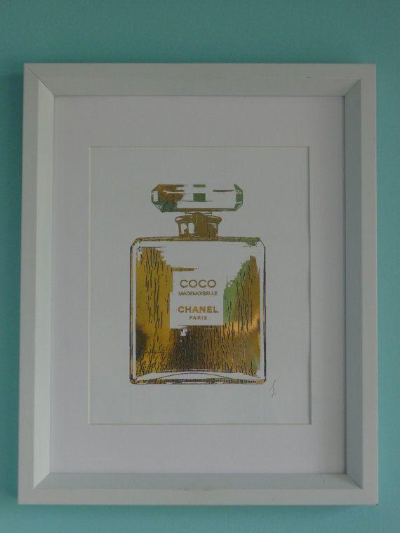 c1761d0ff7c1 Coco Chanel Perfume Bottle 24K Gold. $25.00, via Etsy. WANT | Ooh La ...