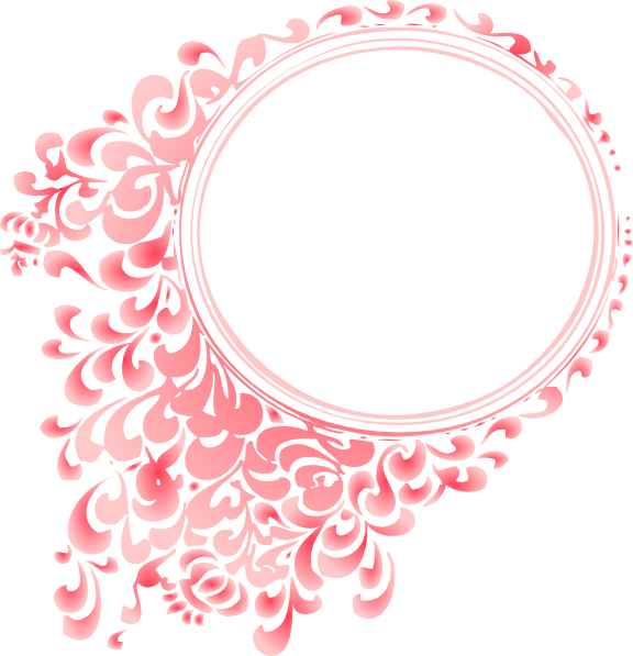 Pretty Borders And Frames Pink Gradient Round Border Clip