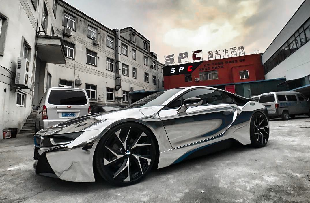 Bmw I8 With Lexani Wheels Ghost We Finance Parkinglotshowoff Pls Awtmotorsports Awthtx Americanwheelandtire Houston Wh Bmw Spoiler Bmw I8 Bmw Electric