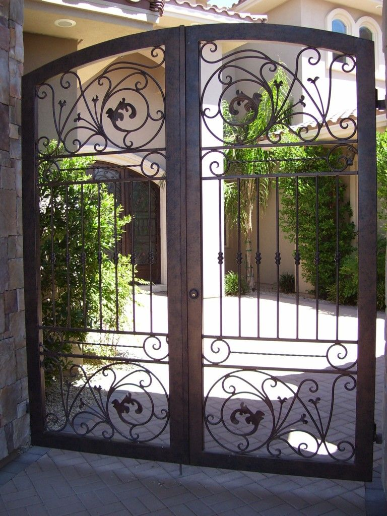 ... Of The Wrought Iron Fence And Beautiful - Iron gate designs for homes
