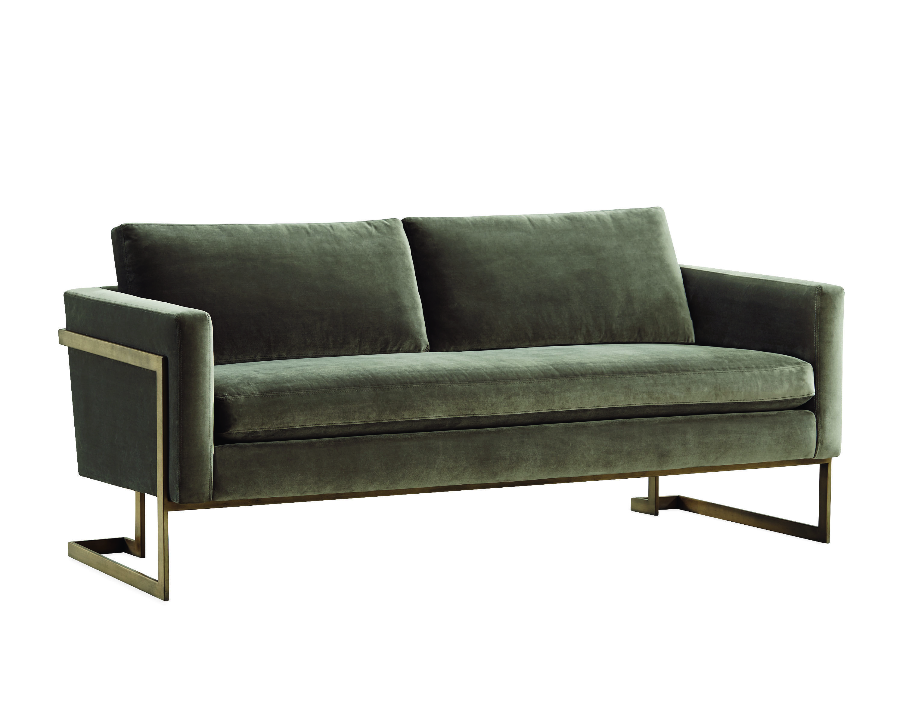 Lee Industries Apartment Sofa In Austin Pewter