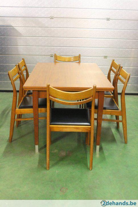 Te Koop Eettafel Met 6 Stoelen.Retro Vintage Tafel Met 6 Stoelen Te Koop Tafel 6 Stoelen