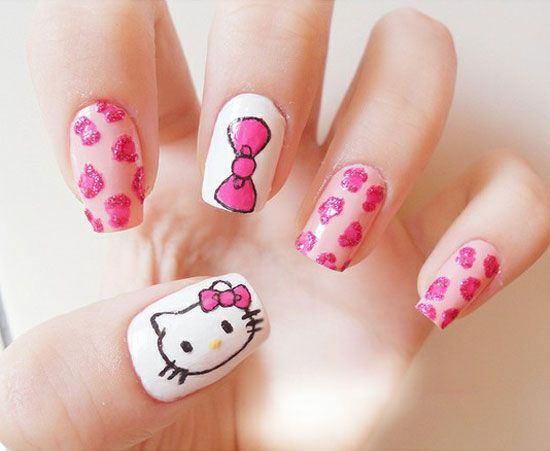 Hello Kitty Nail Art Designs Step By Step Hireability