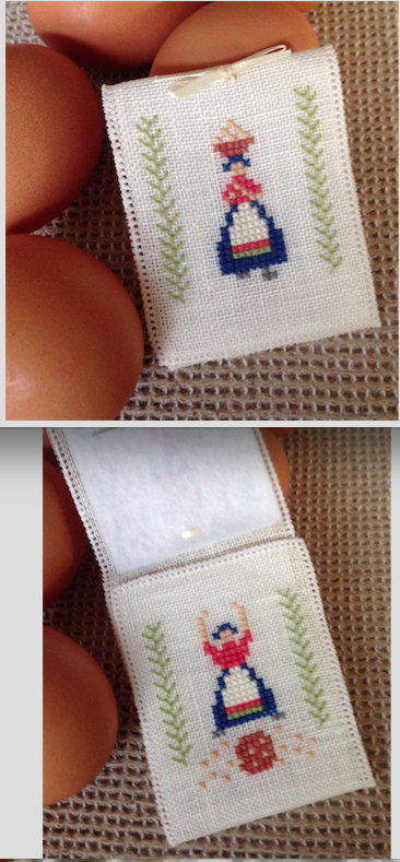 Cute little Danish Egg Lady Needlecase pattern from the Flower Thread Company
